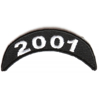 2001 Upper Rocker Patch In Black White
