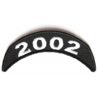 2002 Upper Rocker Patch In Black White