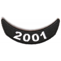 2001 Lower Rocker Patch In Black White