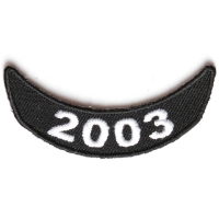 2003 Lower Rocker Patch In Black White
