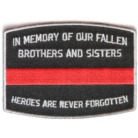 Fallen Firefighter Memorial Patch | Embroidered Patches