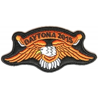 Daytona 2015 Orange Downwing Eagle Patch | Embroidered Biker Patches