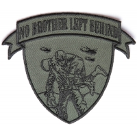 No Brother Left Behind Small Patch In Green Black | US Military Veteran Patches