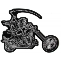 Reaper Riding Chopper Patch | Embroidered Biker Patches