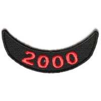 2000 Lower Year Rocker Patch In Red