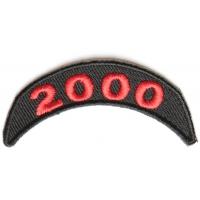 2000 Upper Year Rocker Patch In Red