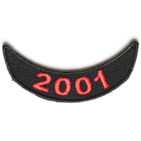 2001 Lower Year Rocker Patch In Red