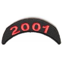 2001 Upper Year Rocker Patch In Red