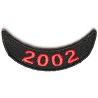 2002 Lower Year Rocker Patch In Red