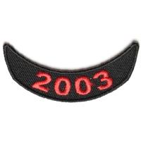2003 Lower Year Rocker Patch In Red