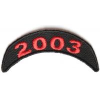 2003 Upper Year Rocker Patch In Red