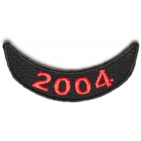 2004 Lower Year Rocker Patch In Red