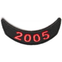 2005 Lower Year Rocker Patch In Red