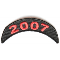 2007 Upper Year Rocker Patch In Red