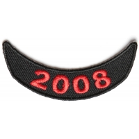 2008 Lower Year Rocker Patch In Red