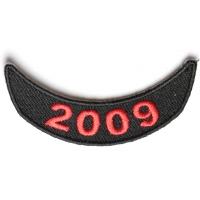2009 Lower Year Rocker Patch In Red