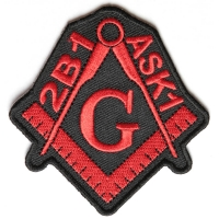2B1 ASK1 Free Mason Black And Red Patch | Embroidered Patches