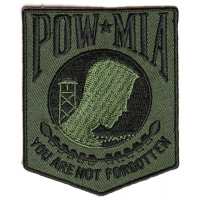 POW MIA Subdued Green Patch | US POW MIA Military Veteran Patches