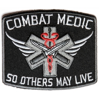 Combat Medic Patch So Others May Live | Embroidered EMT Patches
