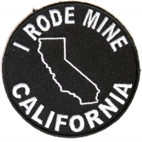 I Rode Mine To California Patch | Embroidered Biker Patches