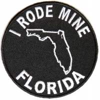 I Rode Mine To Florida Patch | Embroidered Biker Patches