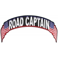 Road Captain US Flag Rocker Patch | Embroidered Biker Patches