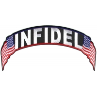 Infidel US Flag Rocker Patch | Embroidered Patches