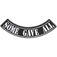 Some Gave All Large Lower Rocker Patch   US POW MIA Military Veteran Patches