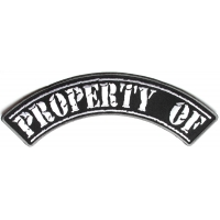 Property Of Large Top Rocker Patch | Embroidered Patches