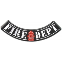 Fire Dept Large Lower Rocker Patch | Embroidered Patches