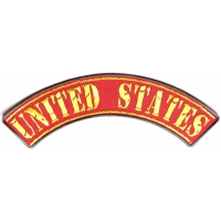 United States Large Top Rocker Patch | US Marine Corps Military Veteran Patches