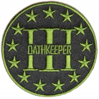 Three Percenter Oathkeeper Round Patch Green | Embroidered Patches