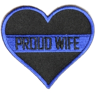 Thin Blue Line Proud Wife Patch For Law Enforcement | Embroidered Patches