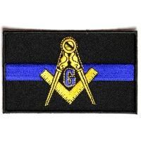 Masonic Thin Blue Line For Law Enforcement Patch | Embroidered Patches