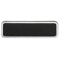 Blank Name Tag Patch White Border | Embroidered Patches