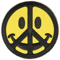 Smiley Face Peace Patch | Embroidered Patches