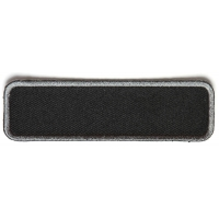 Blank Name Tag Patch Gray Border   Embroidered Patchese