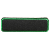 Blank Name Tag Patch Green Border | Embroidered Patchese