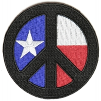 Black Texas Peace Patch | Embroidered Patches