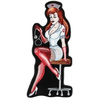 Sexy Nurse Large Back Patch | Embroidered Sexy Nurse Patches
