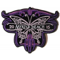 Myrtle Beach 2015 Patch Purple Butterfly