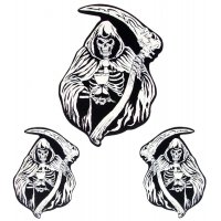 Reaper Sand Clock Sticker