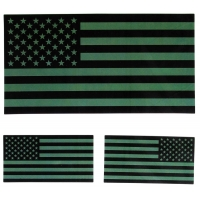 Black and Green US American Flag Sticker