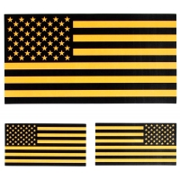 Black and Yellow US American Flag Sticker