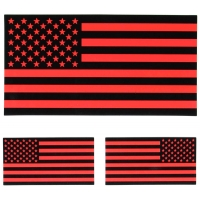 Black and Red American Flag Sticker