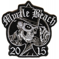 Myrtle Beach 2015 Patch Tall Hat Skull
