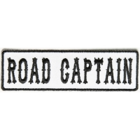 Road Captain Patch Black On White