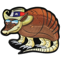 Large Texas Armadillo Back Patch