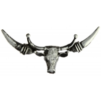 Steer Head Wide Horns Pin