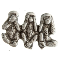 See Hear Speak Nothing Monkeys Pin